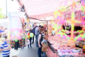 Image shows customer browsing around the stall at the Ballyclare May Fair on a lovely Sunny Afternoon